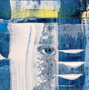 Traumfänger 11, Acryl auf Karton von Petra Elsner